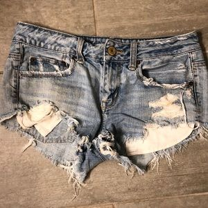 American Eagle Ripped denim Short Shorts